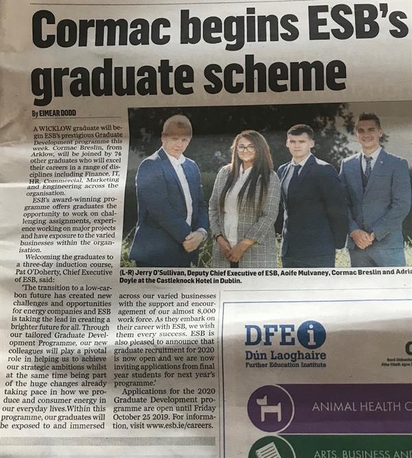 Congratulation to Cormac