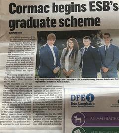 Congratulation to Cormac