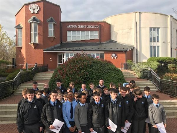 1st Years Visit Arklow Credit Union